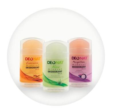 Минеральный дезодорант на основе натуральных аммонийных квасцов с соками и экстрактами